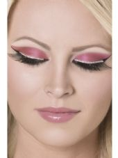Black with Silver Glitter Strip Eyelashes